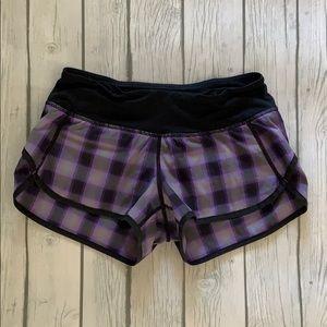 Lululemon Plaid Speed Shorts Size 2